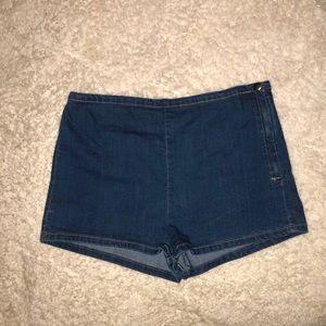 F21 High Waist Jean Shorts
